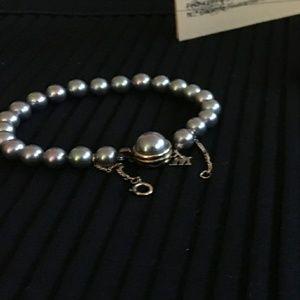 Majorica gray pearl bracelet